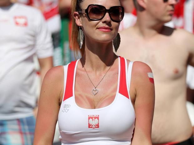 A Polish fan looks on during the UEFA European Championship EM Europameisterschaft 2016 match at the