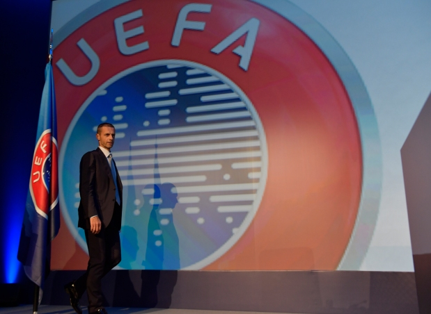 ATHENS, GREECE - SEPTEMBER 14: UEFA President Aleksander Ceferin during the 12th Extraordinary UEFA Congress at the Grand Resort Lagonissi Hotel, on September 14, 2016 in Athens, Greece.  (Photo by Harold Cunningham - UEFA/UEFA via Getty Images)